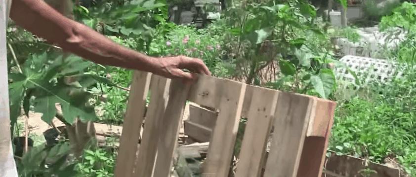 Cut pallets in half