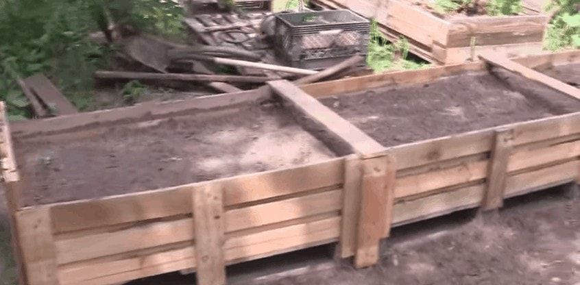 DIY raised garden from pallets