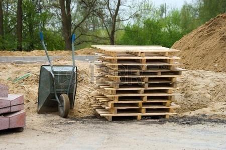 pallets construction site