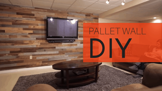 how to make a diy accent wall using pallets. Black Bedroom Furniture Sets. Home Design Ideas