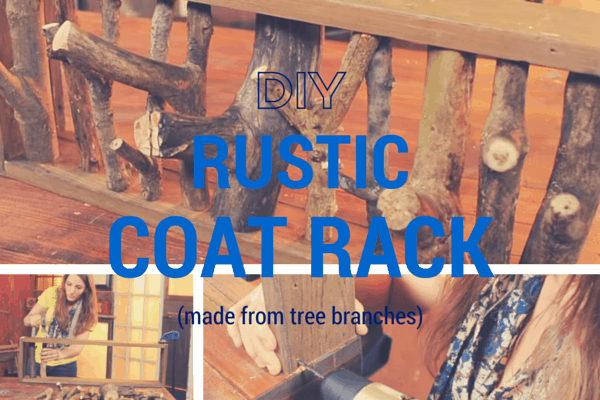 How To Make A DIY Rustic Coat Rack From Tree Branches Adorable Tree Branch Coat Rack Diy