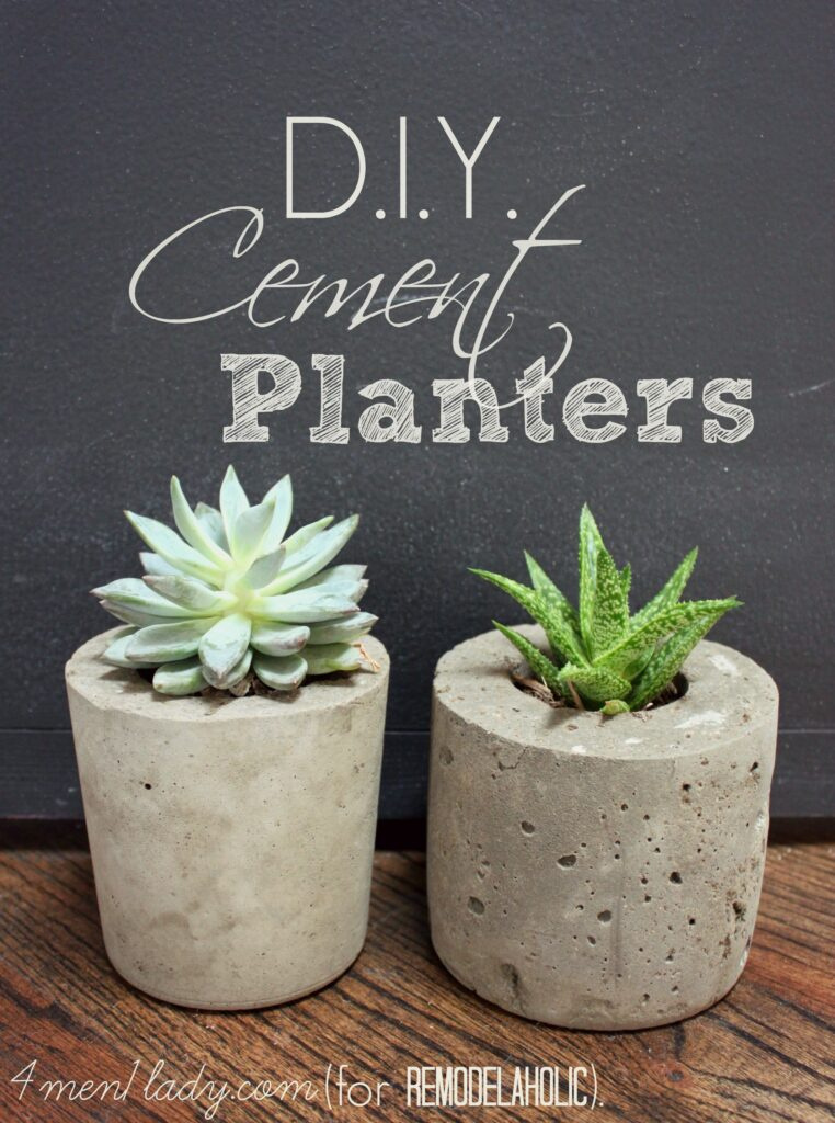 DIY Cement Planter - thesawguy.com