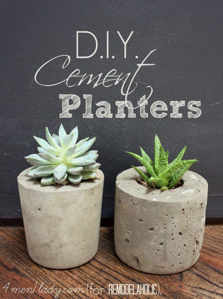 DIY Cement Planter - thesawguy.com