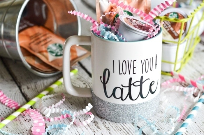 Glitter dipped mug - thesawguy.com