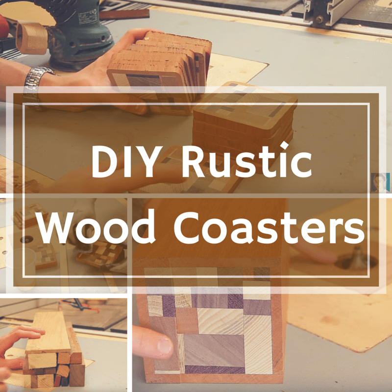 DIY Rustic Wooden Coasters
