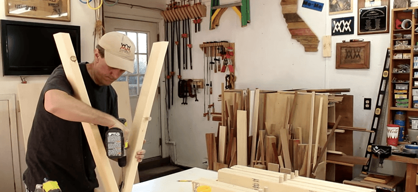 build a folding sawhorse