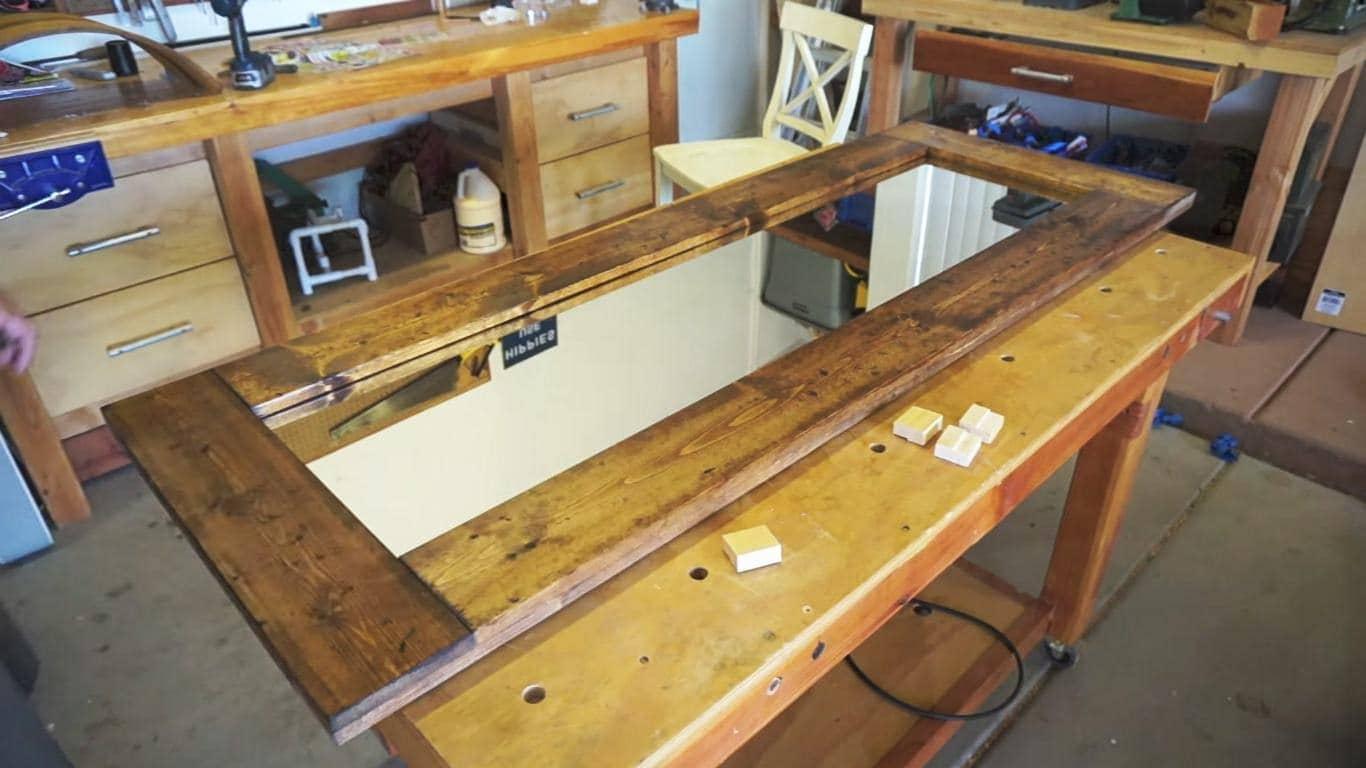 How To Make A Barn Door Style Rustic Floor Mirror
