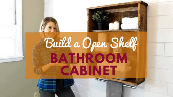 DIY bathroom cabinet project