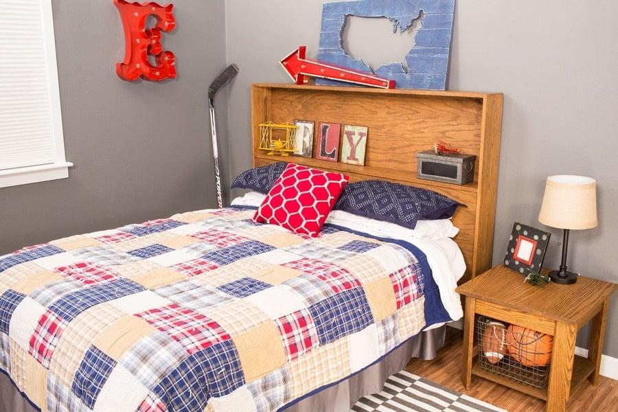 cabecera de cama de almacenaje