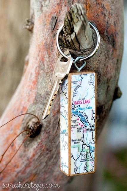 cool map keychain