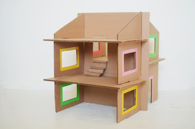 Dollhouse out Of Recycled Cardboard