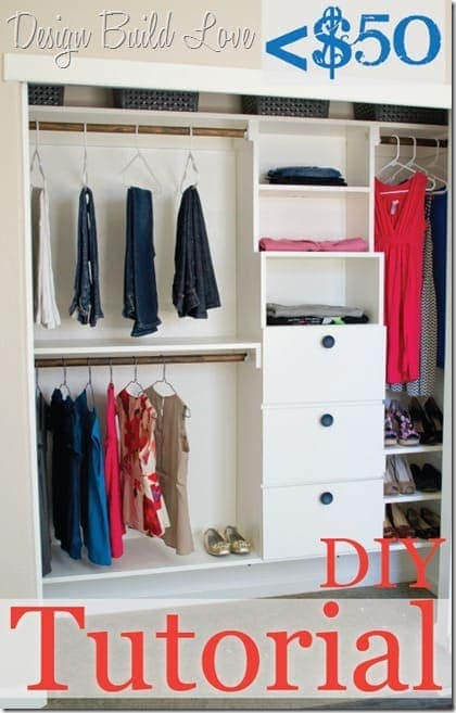 DIY Closet Shelving