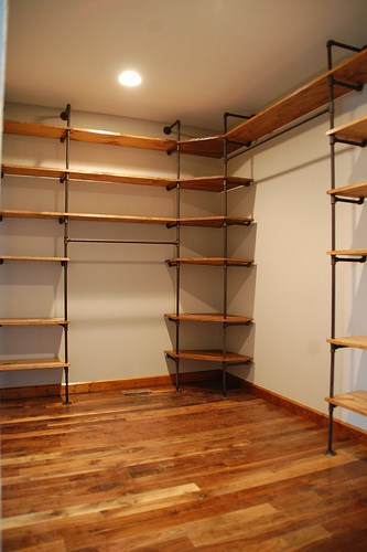 Build Your Own Industrial Style Closet