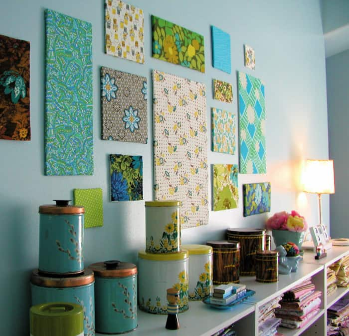 DIY Fabric Wall Art