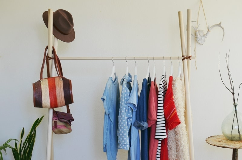 DIY Clothing Rack for Bedroom