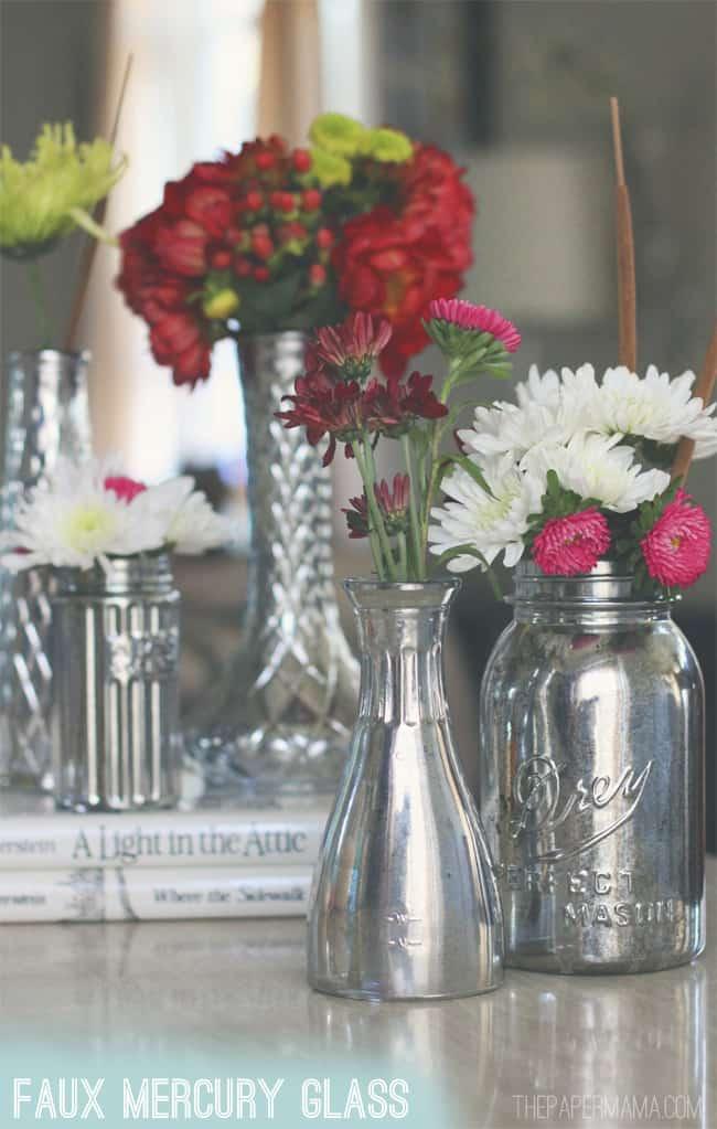 DIY Glass Vase Centerpiece