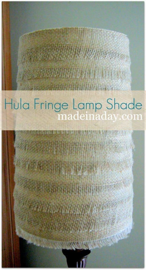 Hulu Inspired Burlap Lamp