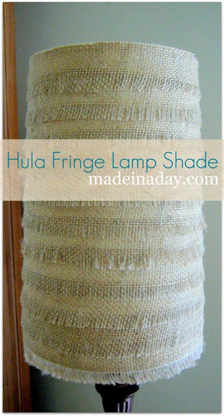 Hulu Inspired Burlap Lamp 23 DIY Projects