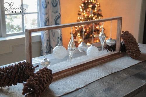 DIY Hanging Ornament Centerpiece