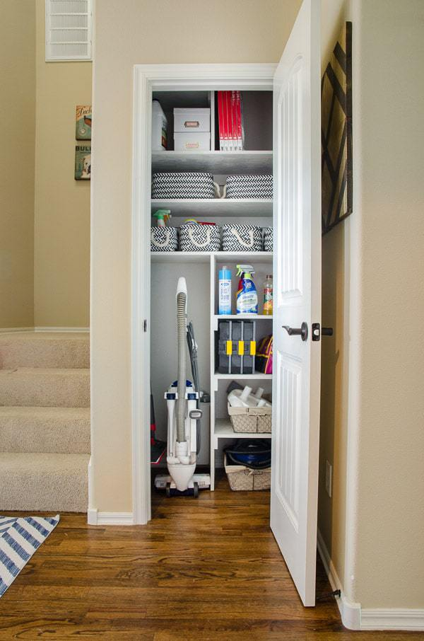Stylish Cleaning Closet