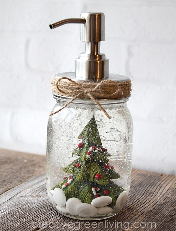 Snow Globe Inspired Soap Bottle