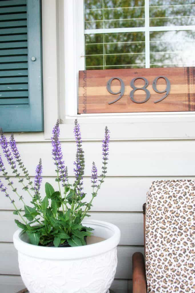 Recycled Cutting Board DIY Address Sign