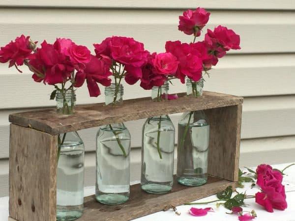 DIY Wooden Vase Centerpiece