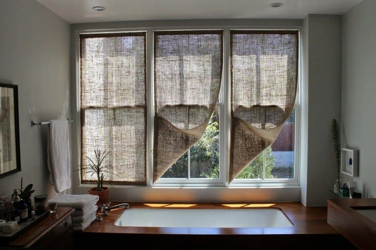 Burlap Window Shades for $20
