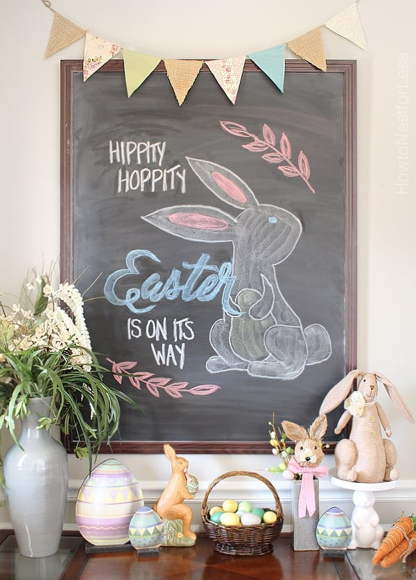 Simple DIY Easter Chalkboard