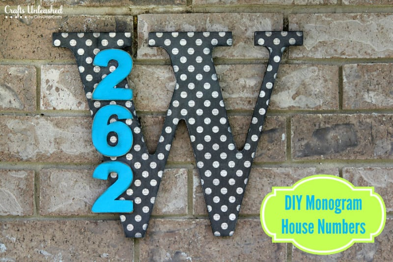 Stylish DIY Wooden House Numbers