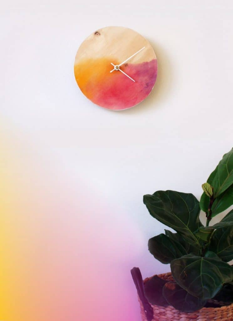 Watercolor Clock DIY