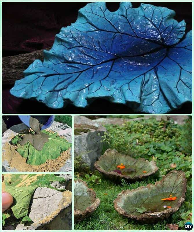 Make Your Own Concrete Leaf
