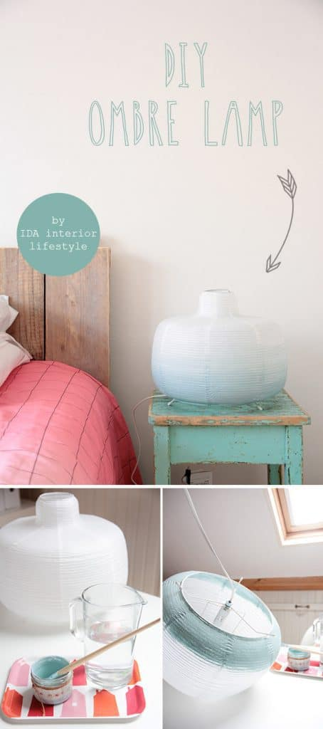 Diy OMbre lamp