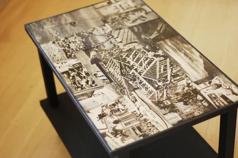 Mod Podge Side Table
