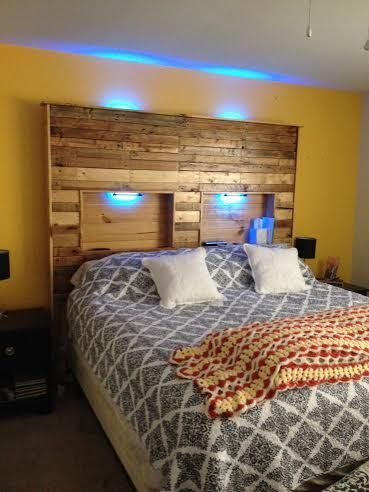 Pallet Bed with Lights