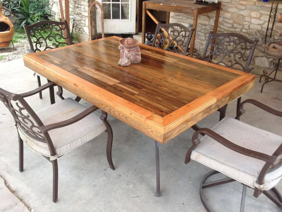 Patio Style Reclaimed Wood Table