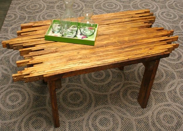 Creative Shape Wooden Pallet Coffee Table