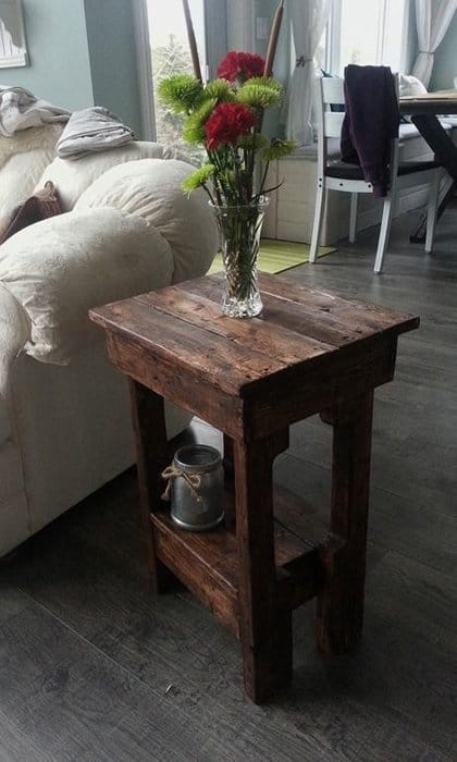 Rustic End Tables In Less Than 2 Hours