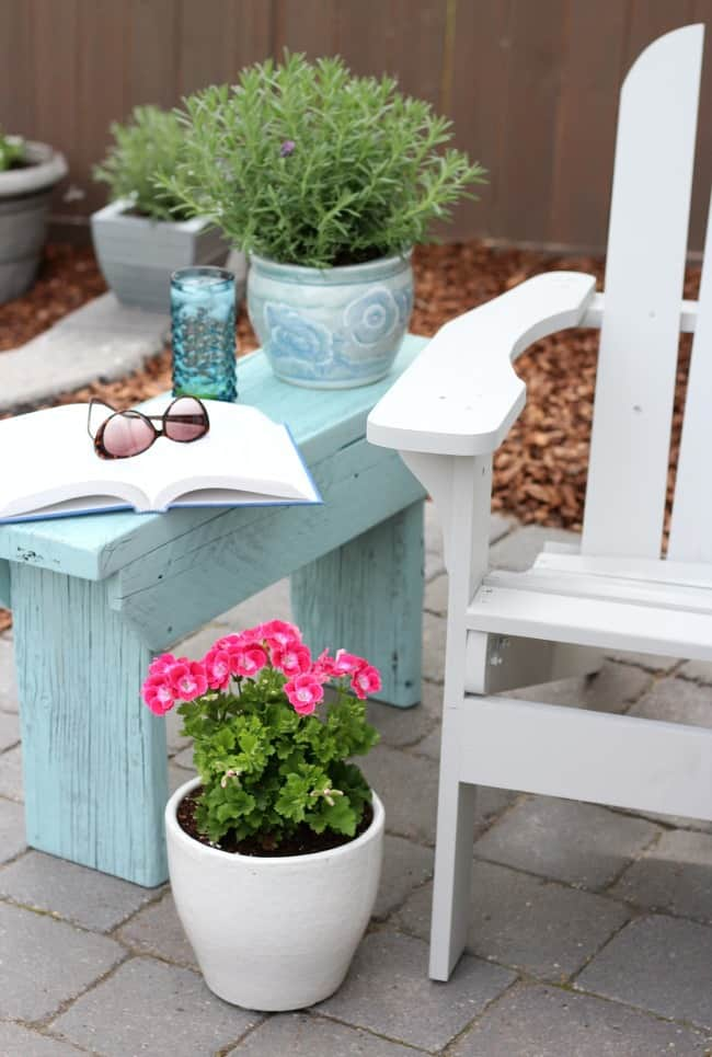 DIY Outdoor End Table