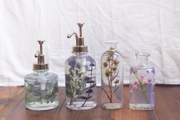 Flower Bottle Soap Dispenser