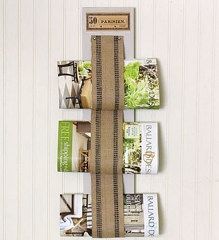 Burlap Magazine Holder DIY