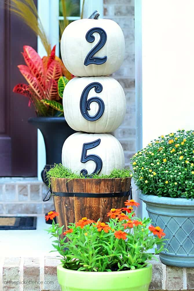 DIY Pumpkin House Numbers