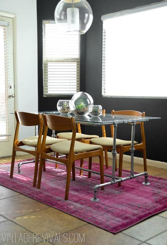 Industrial Style Metal Conduit Dining Room Table
