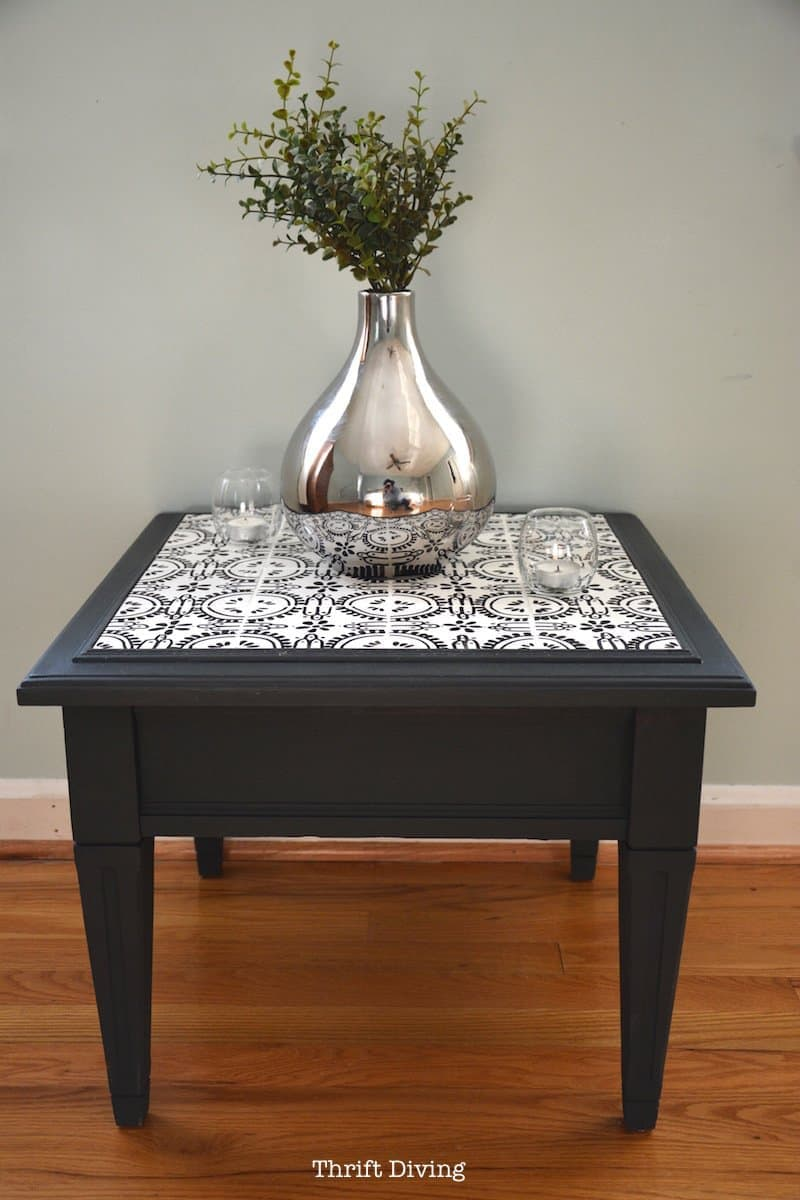 Diy Refurbished Table With Ceramic Tiles