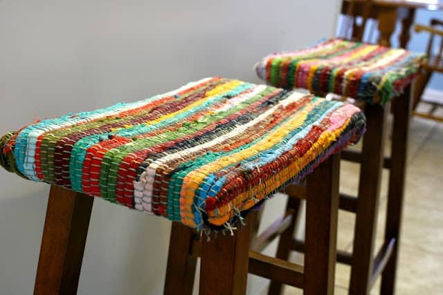 Repurposed Rug Stool