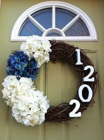 DIY Address Sign Wreath