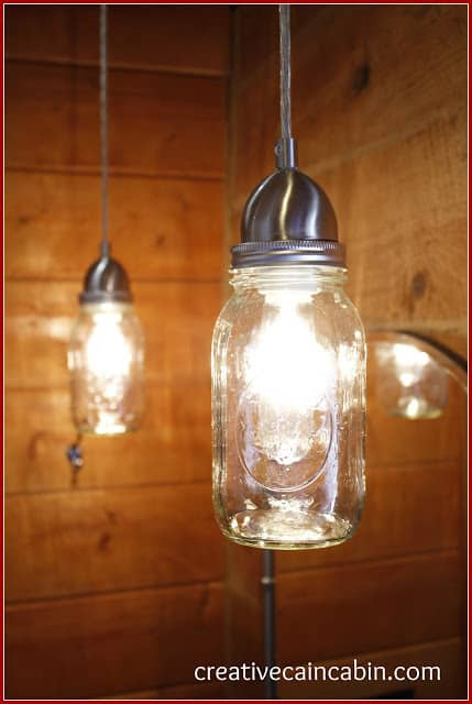Bathroom Mason Jar Lighting