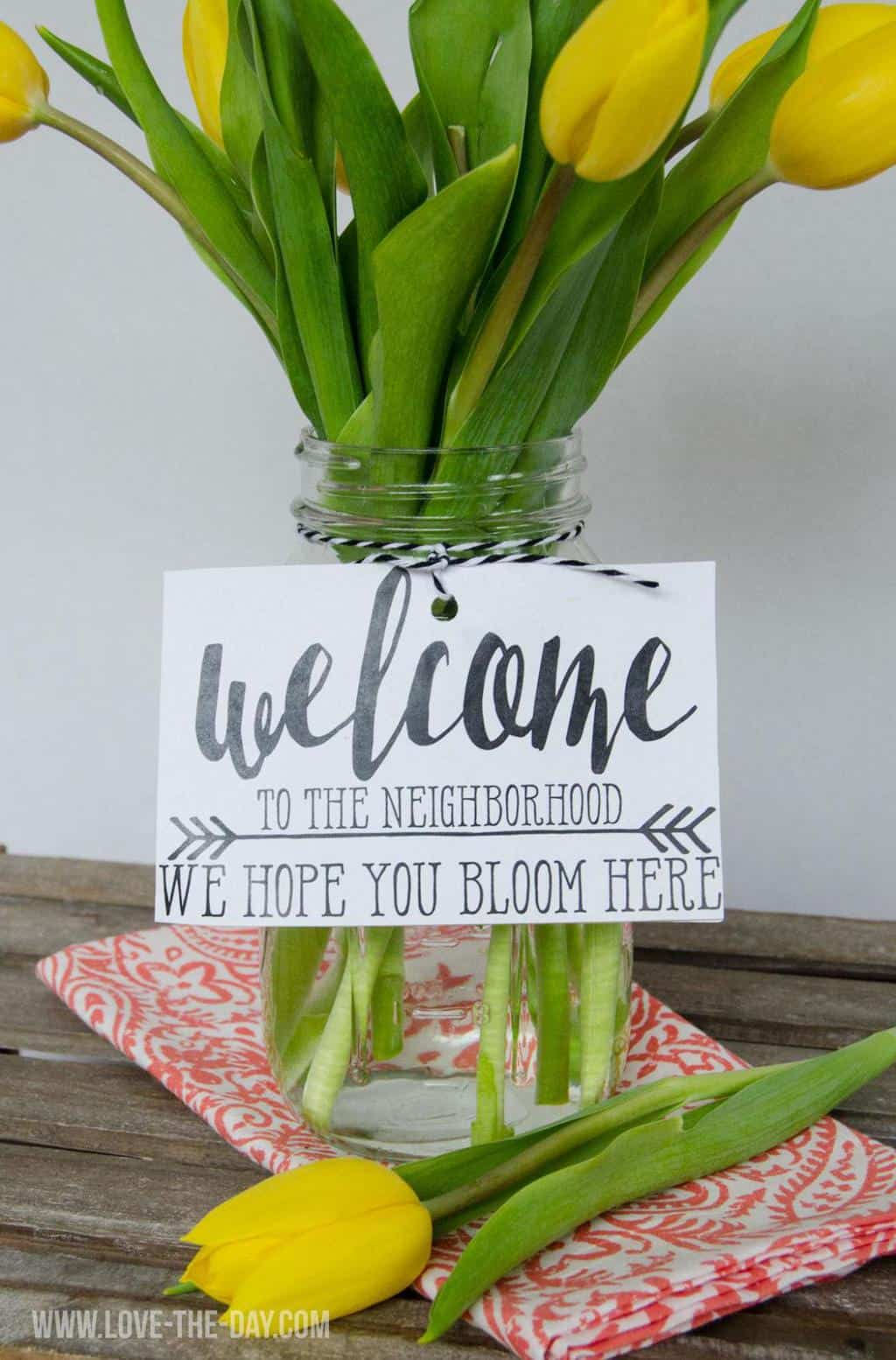 picture relating to Welcome to the Neighborhood Printable identify 24 Do-it-yourself Housewarming Presents In the direction of Welcome A Fresh new Neighbor - The