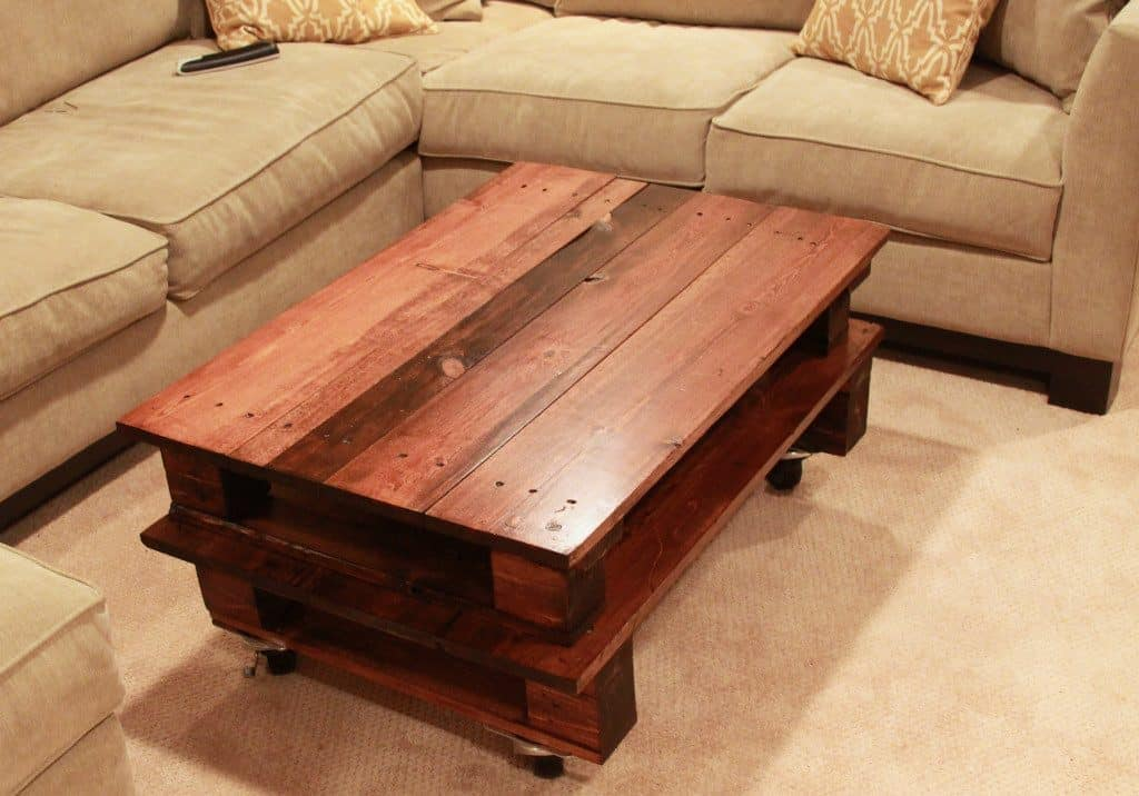 Stained Pallet Coffee Table
