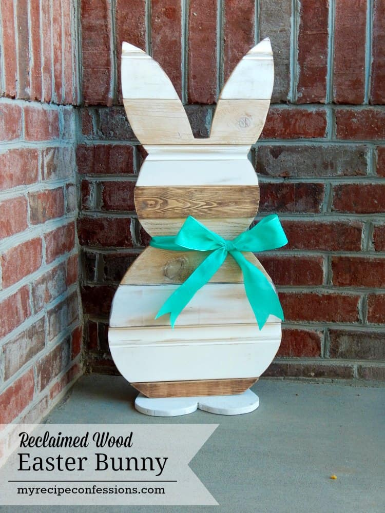 Bunny Made With Reclaimed Wood